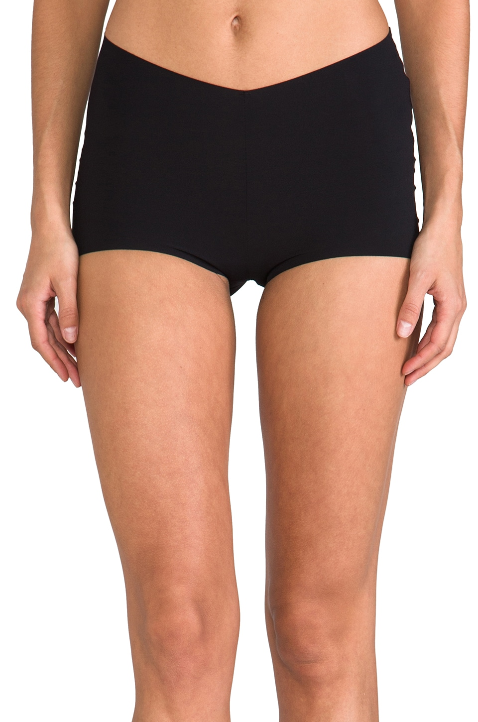 Yummie by Heather Thomson Lily Cheekie Boy Shorts in Black