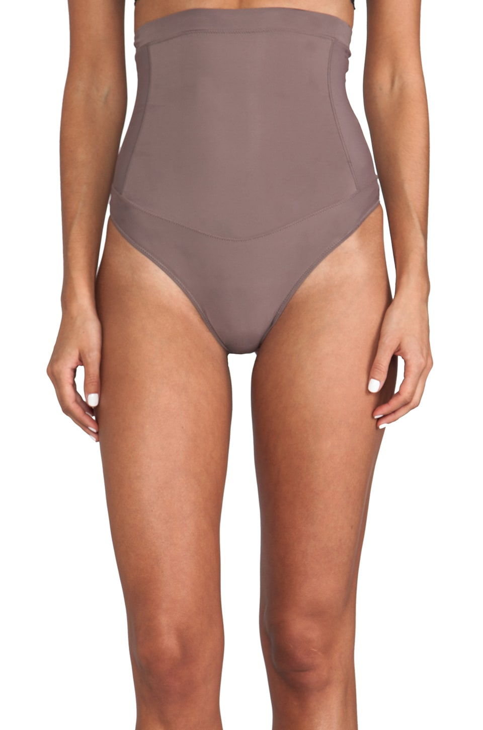 Yummie by Heather Thomson Mindie High Waisted Thong in Mink