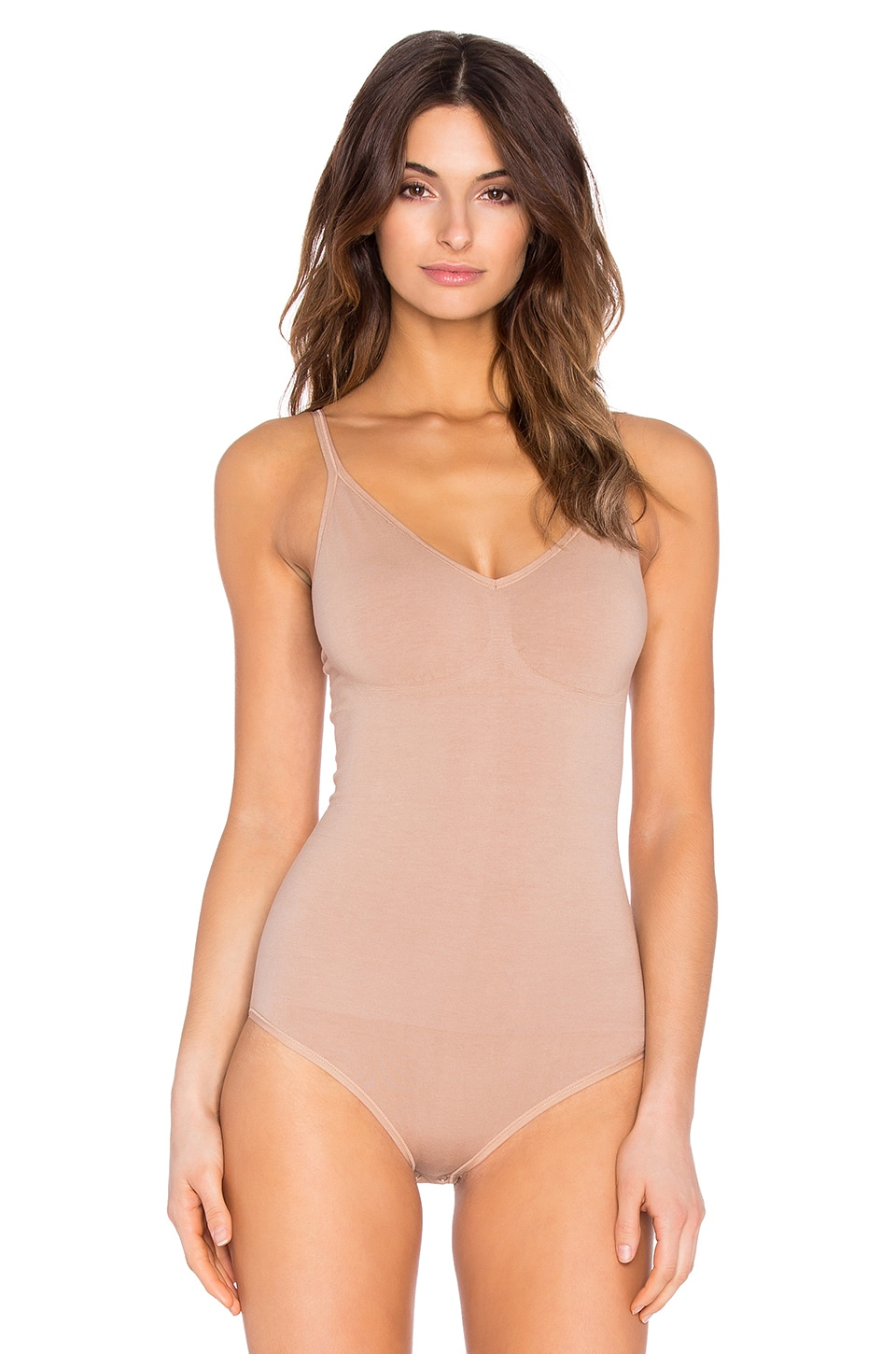 Yummie by Heather Thomson Conner Convertible Halter Bodysuit in Almond