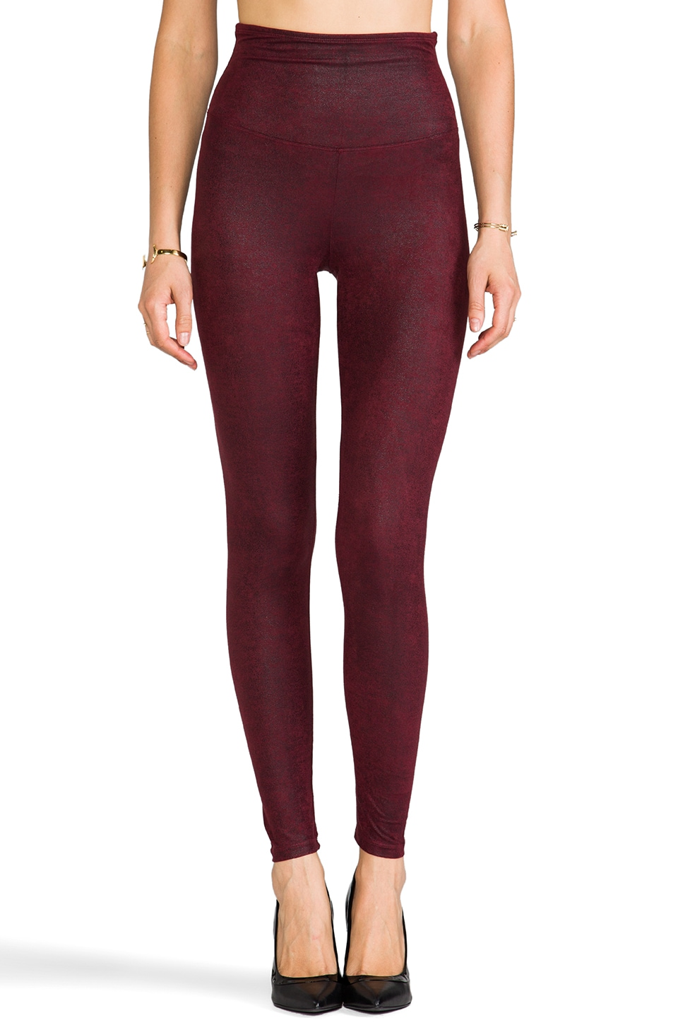 Yummie by Heather Thomson Jade Legging in Port