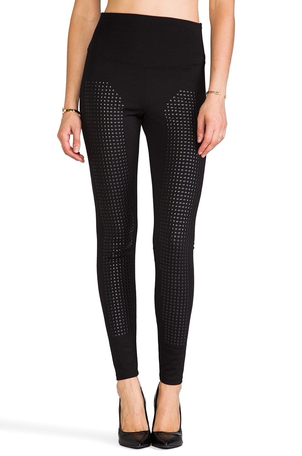 Yummie by Heather Thomson Denise Studded Legging in Black