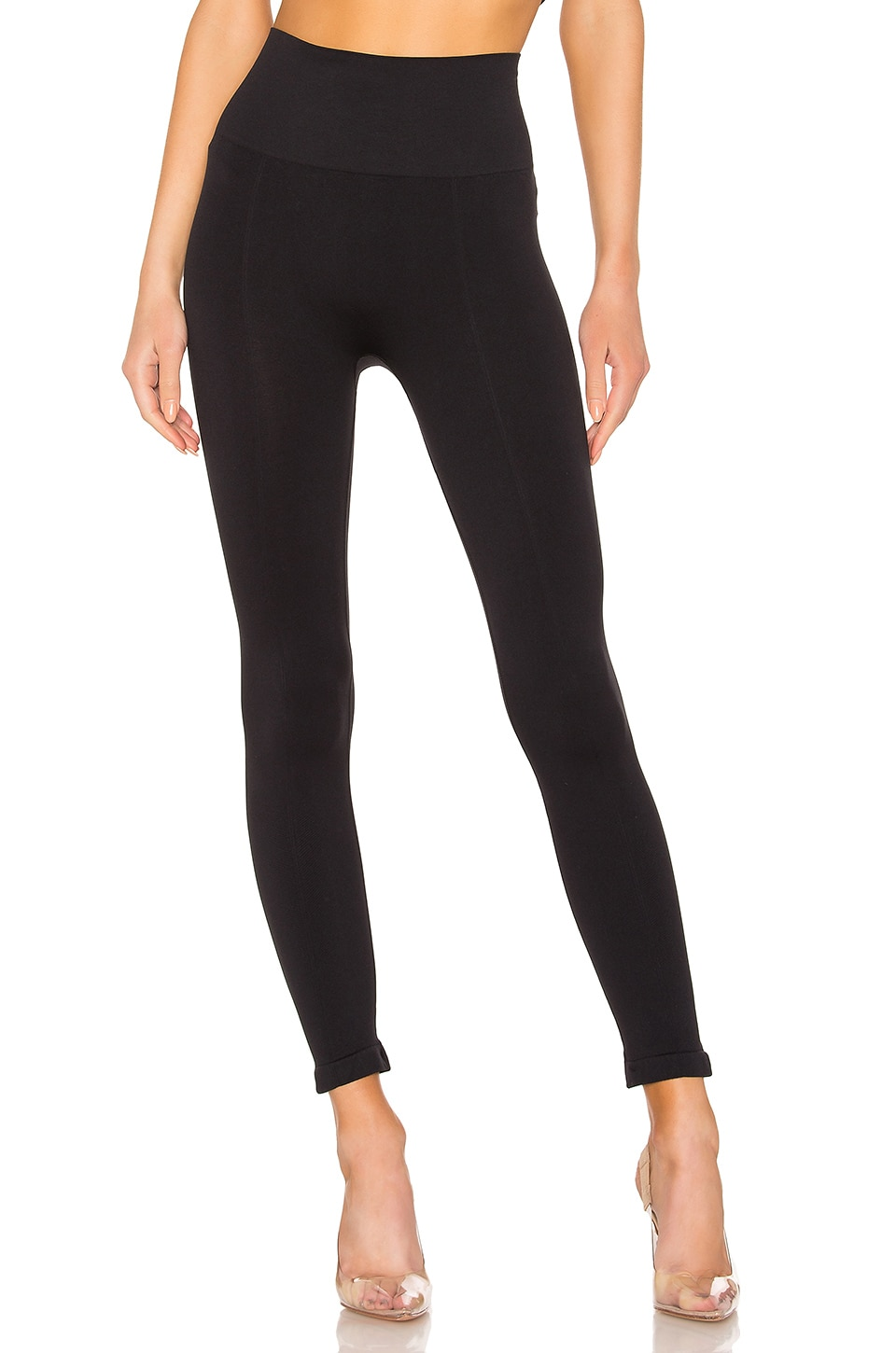 Yummie Ankle Length Seamless Legging in Black
