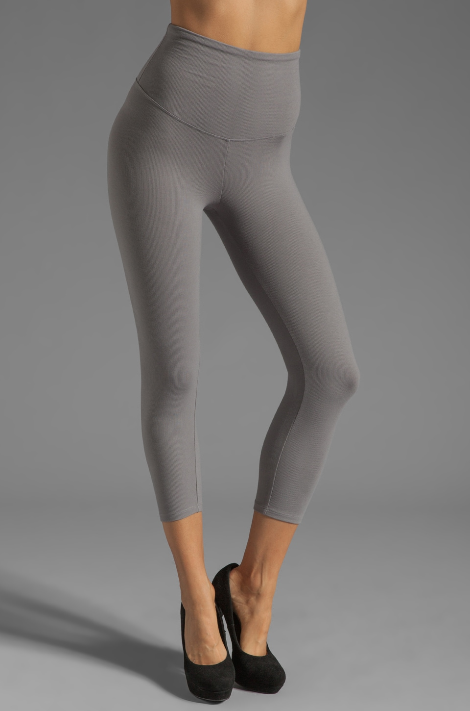 Yummie by Heather Thomson Jo Rib Skimmer Legging in Gray