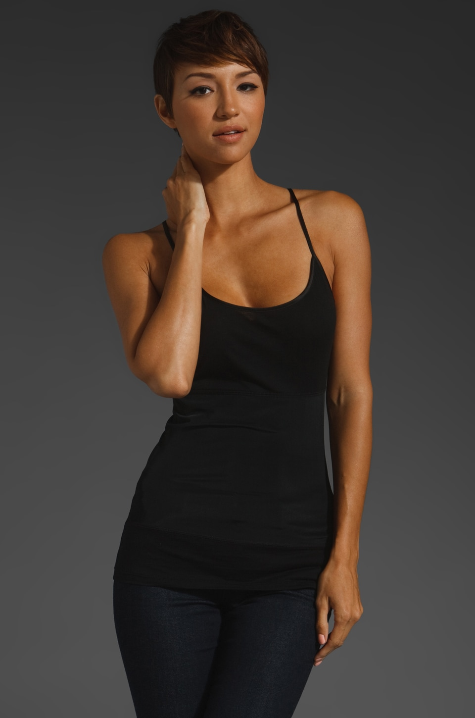 Yummie by Heather Thomson Strappy Tank in Black