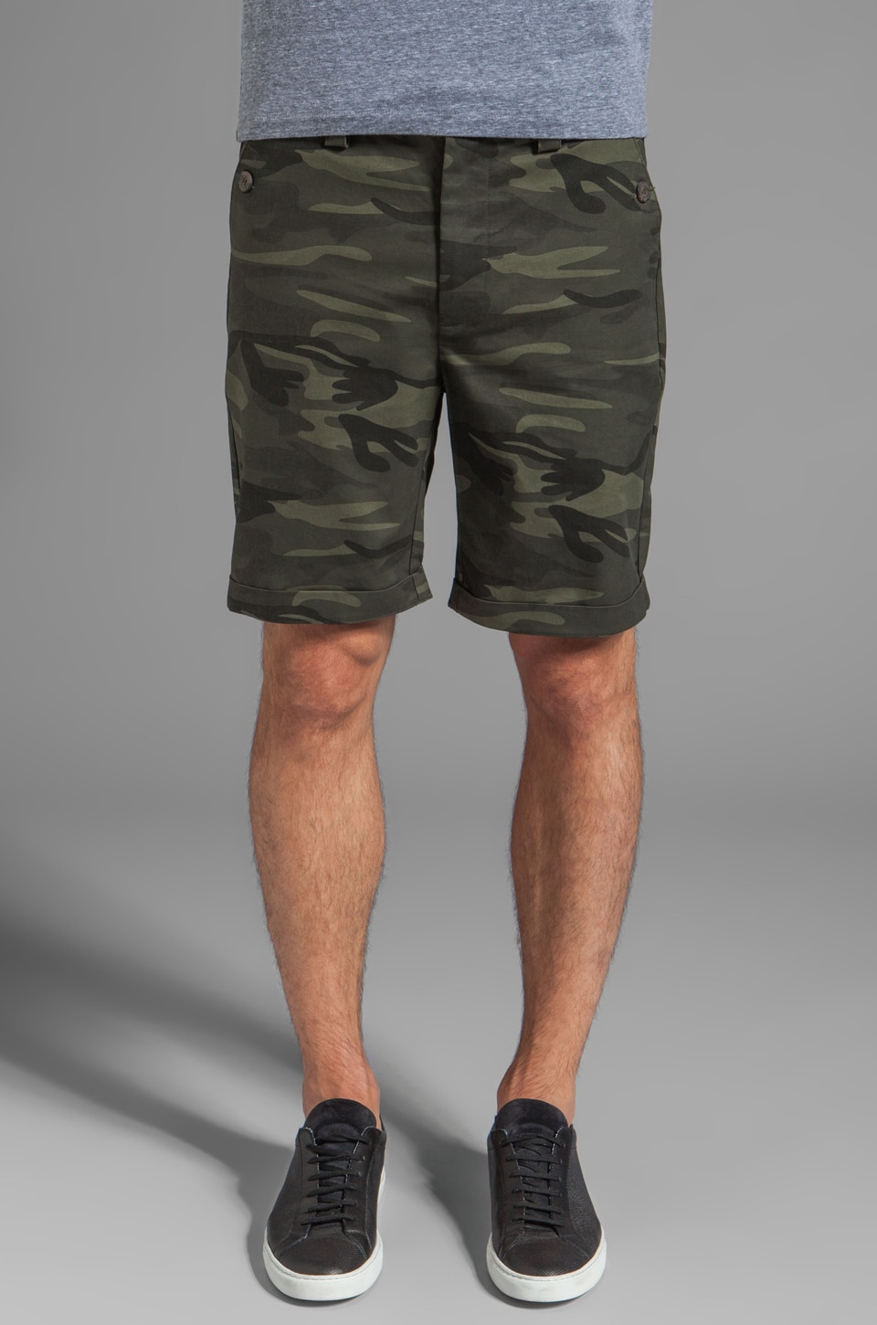 Z.A.K. Aztec Detailed Shorts in Camo/Olive