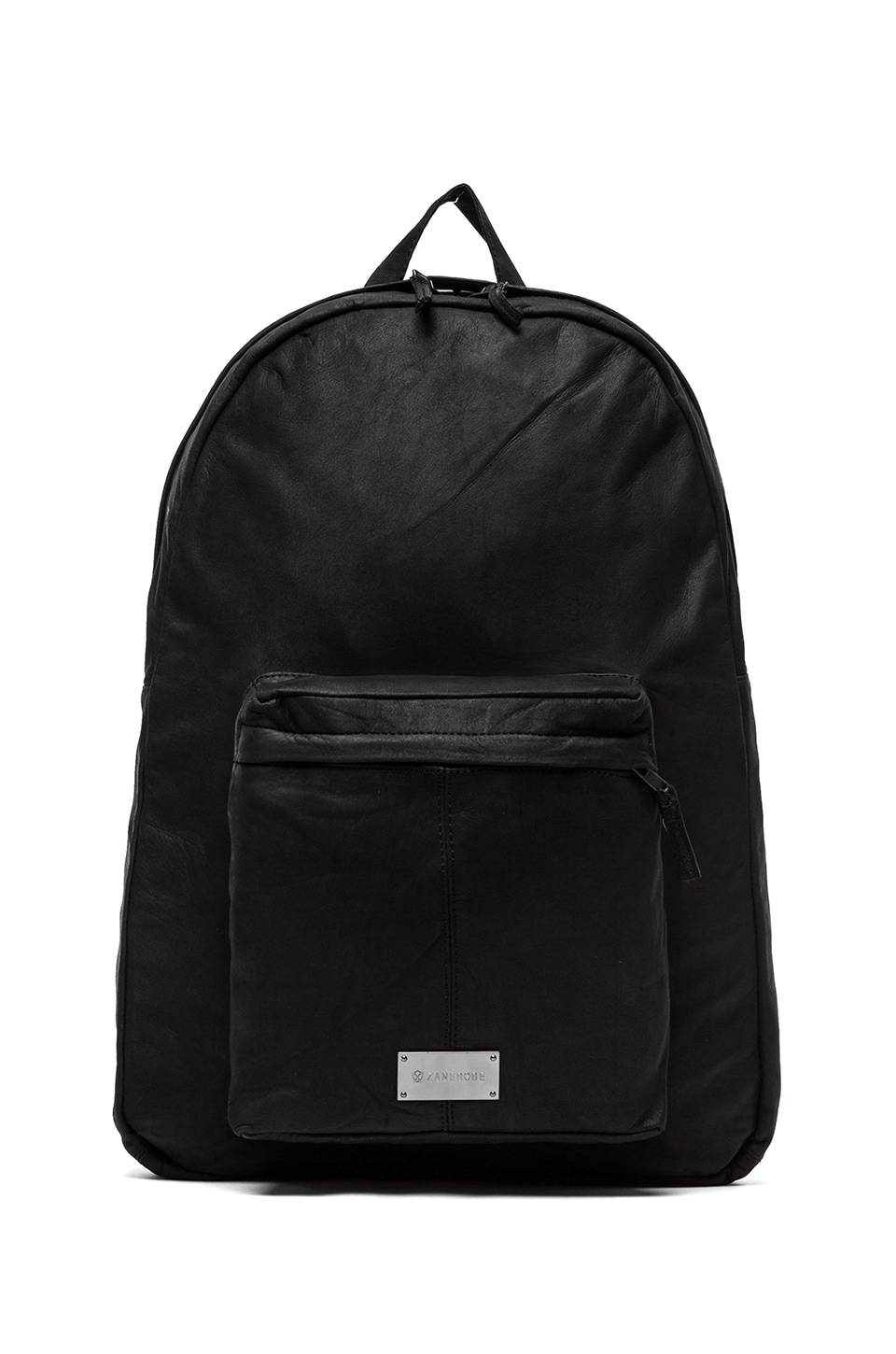 Zanerobe Crosstown Leather Backpack in Black