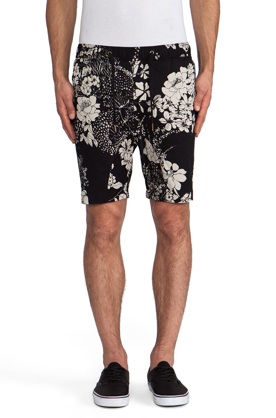 Zanerobe Sureshot Short in Black Floral