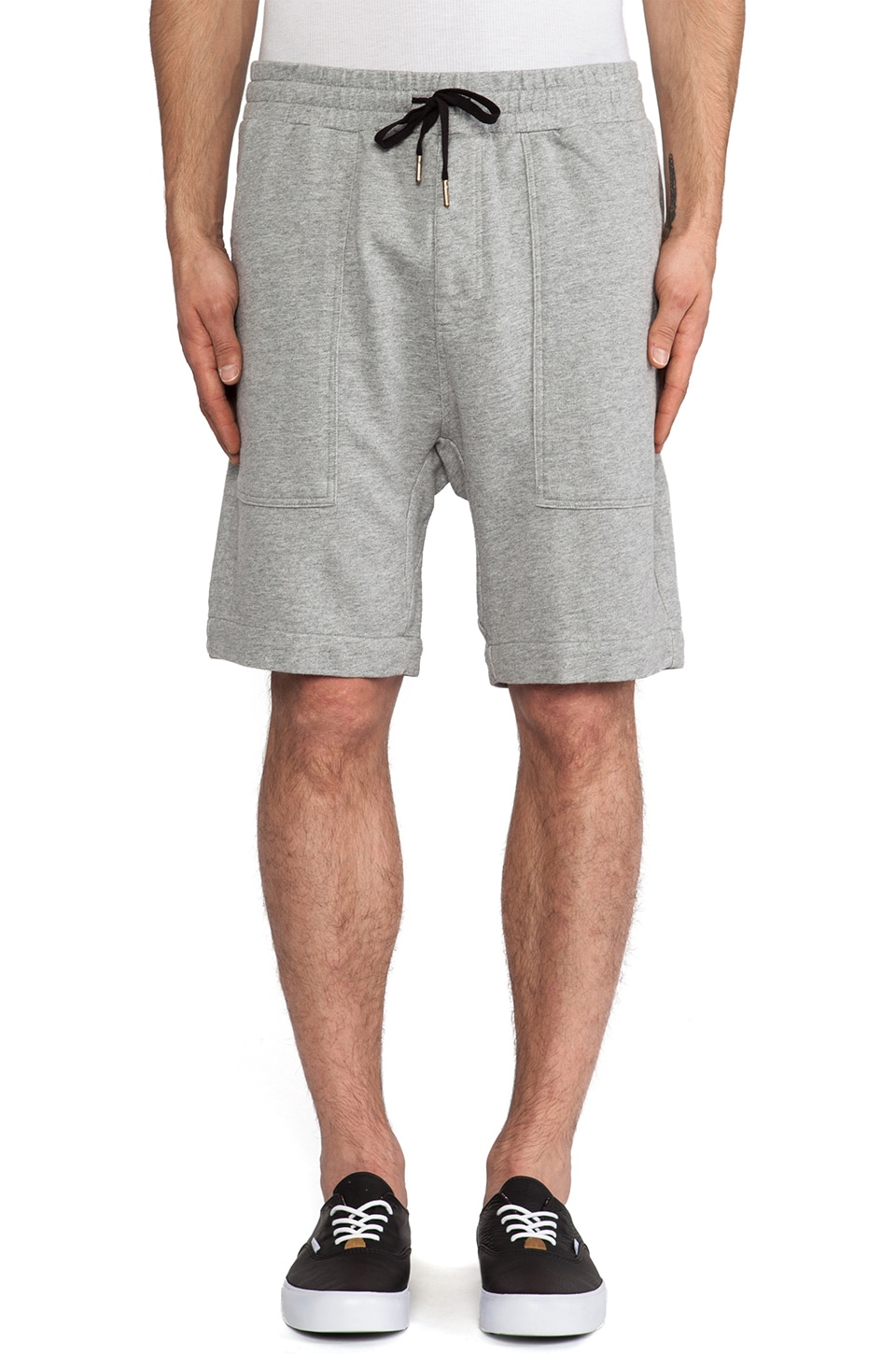 Zanerobe Gabe Short in Light Grey Marle
