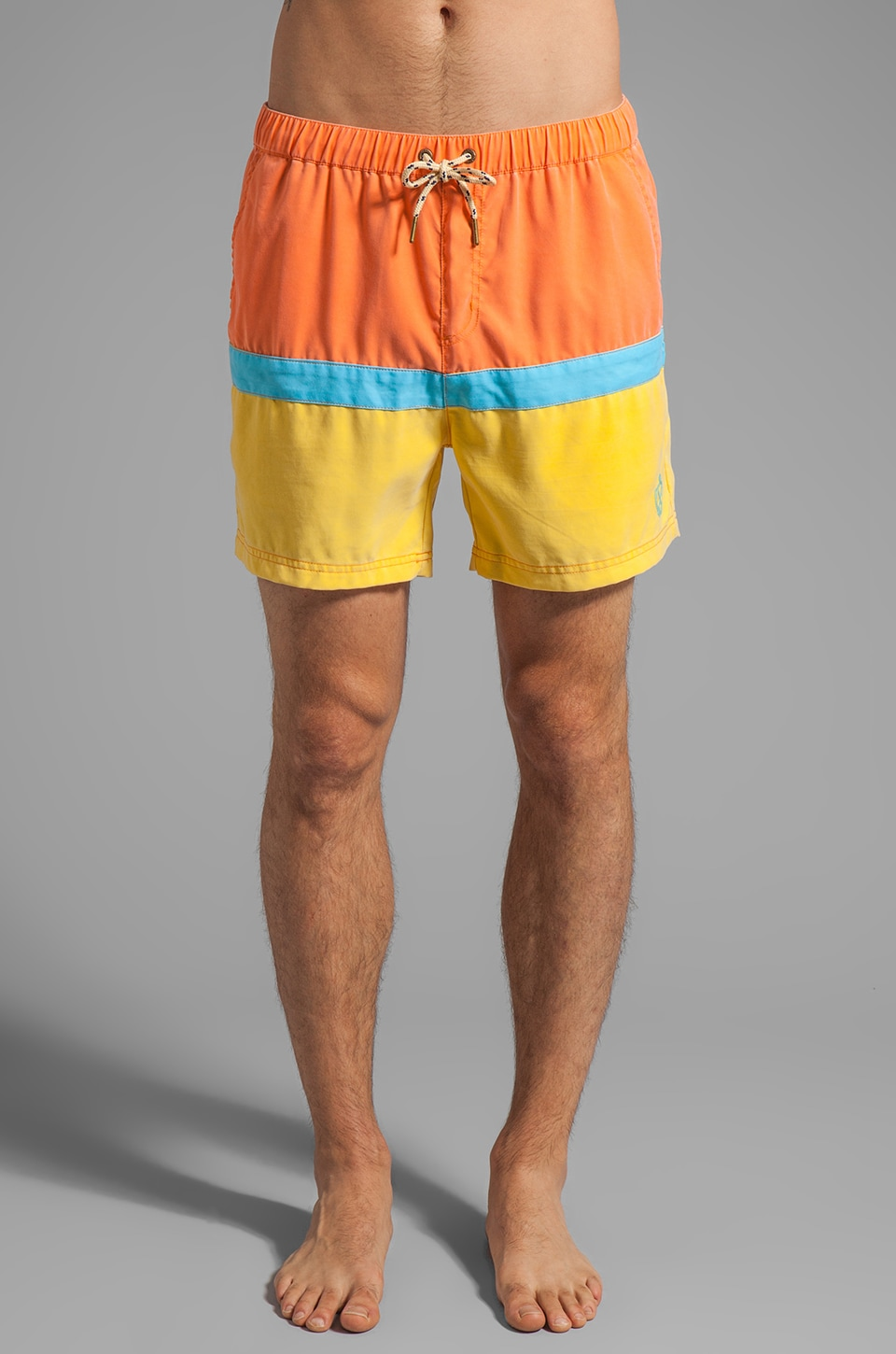 Zanerobe Nippa Swim Short in Orange/Yellow