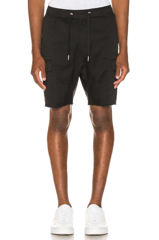 Zanerobe Sureshot Lite Cargo Short in Washed Black