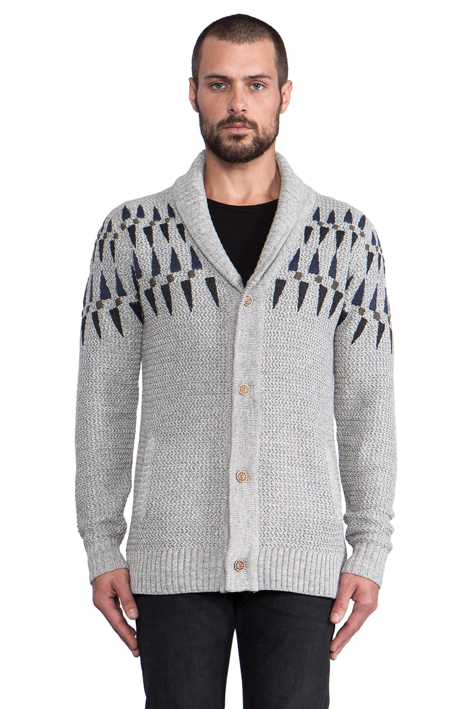 Zanerobe Sloan Cardigan in Light Grey