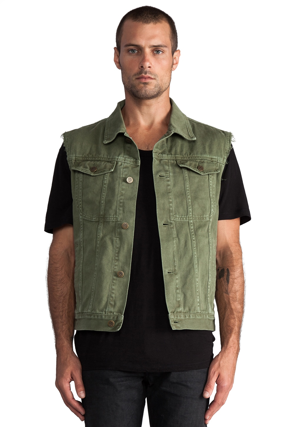 Zanerobe DiMarco Vest in Military Green