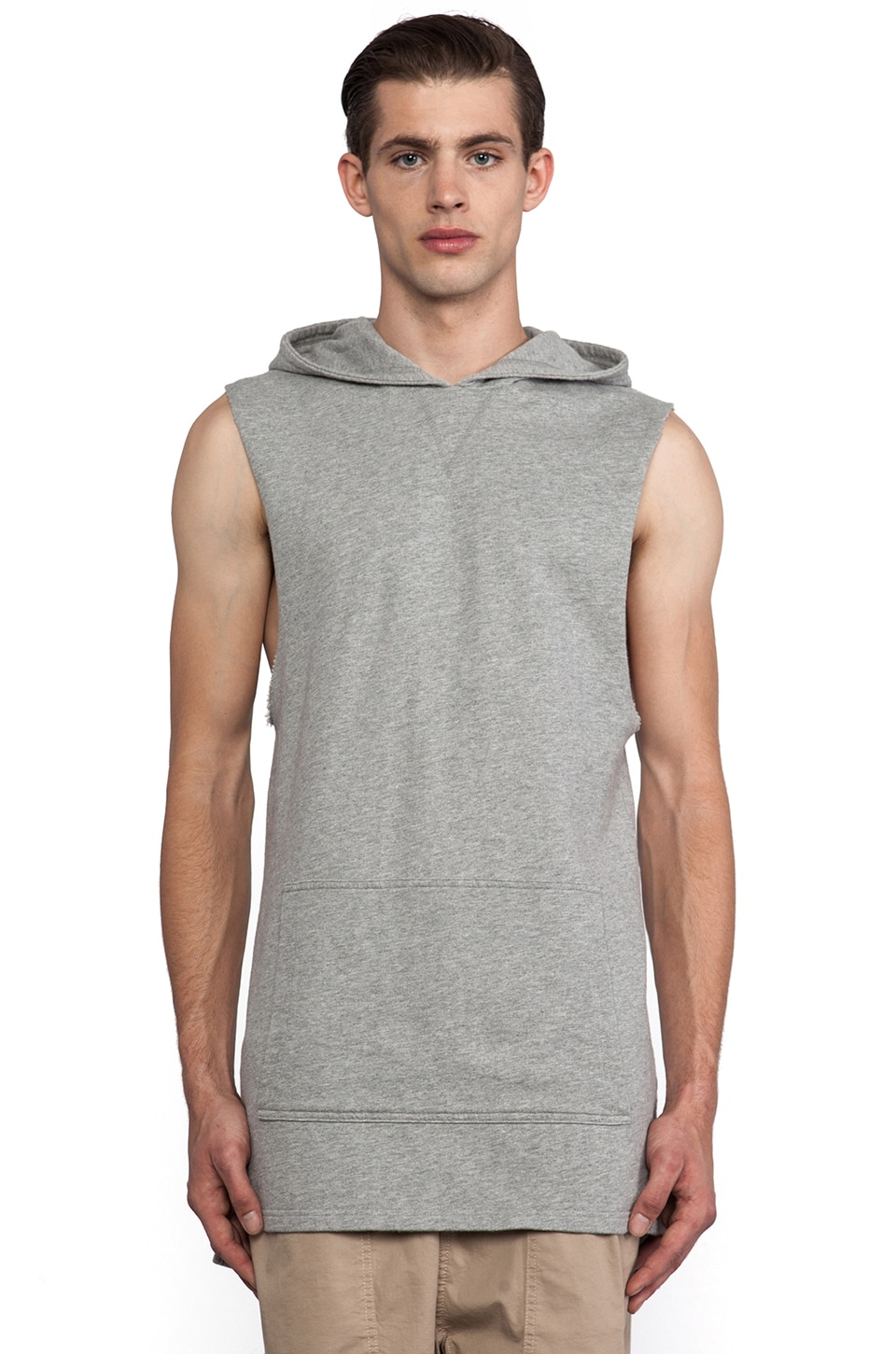Zanerobe Uppercut Sweatshirt in Light Grey Marle