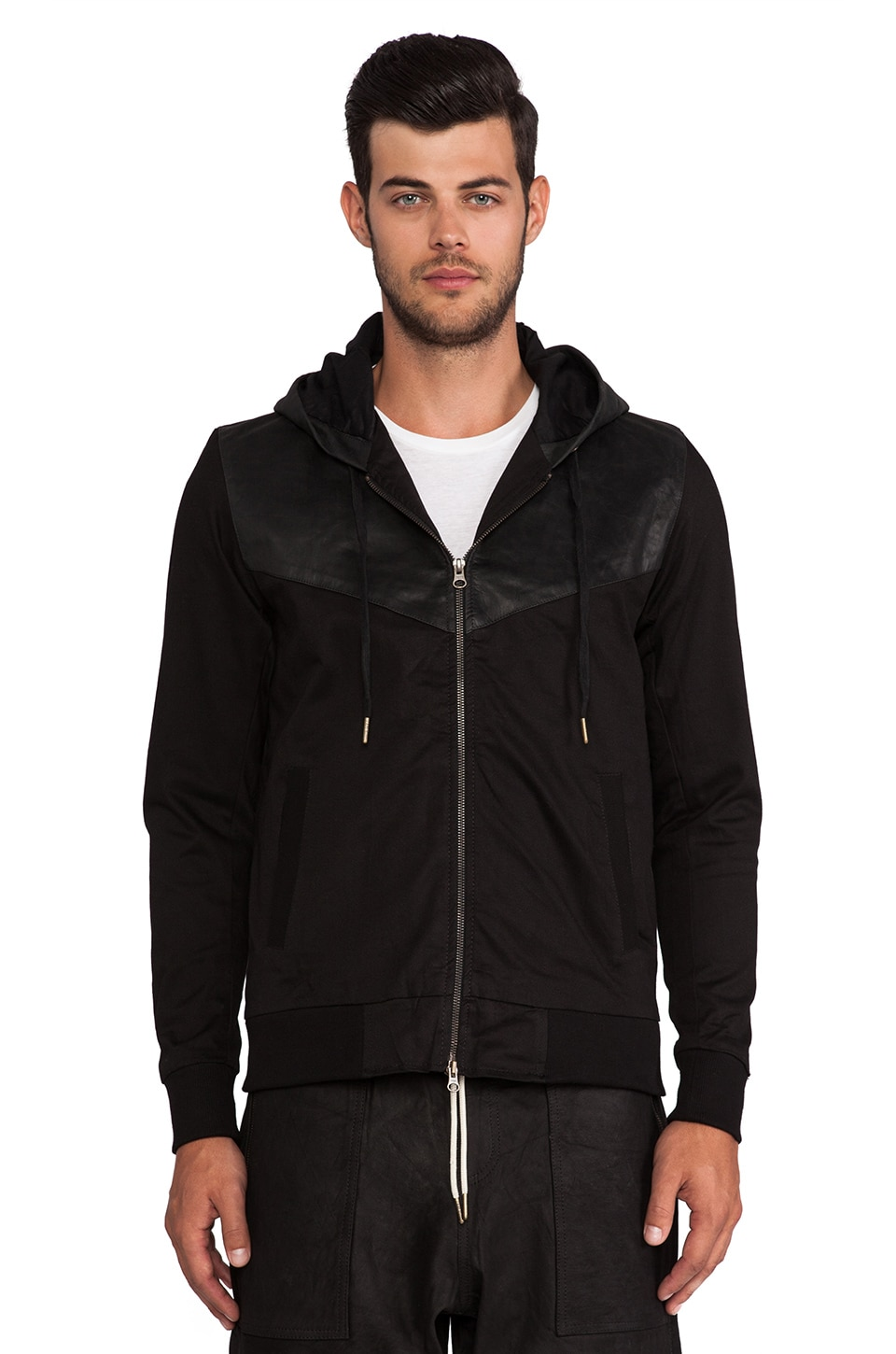 Zanerobe Track Hoody in Black