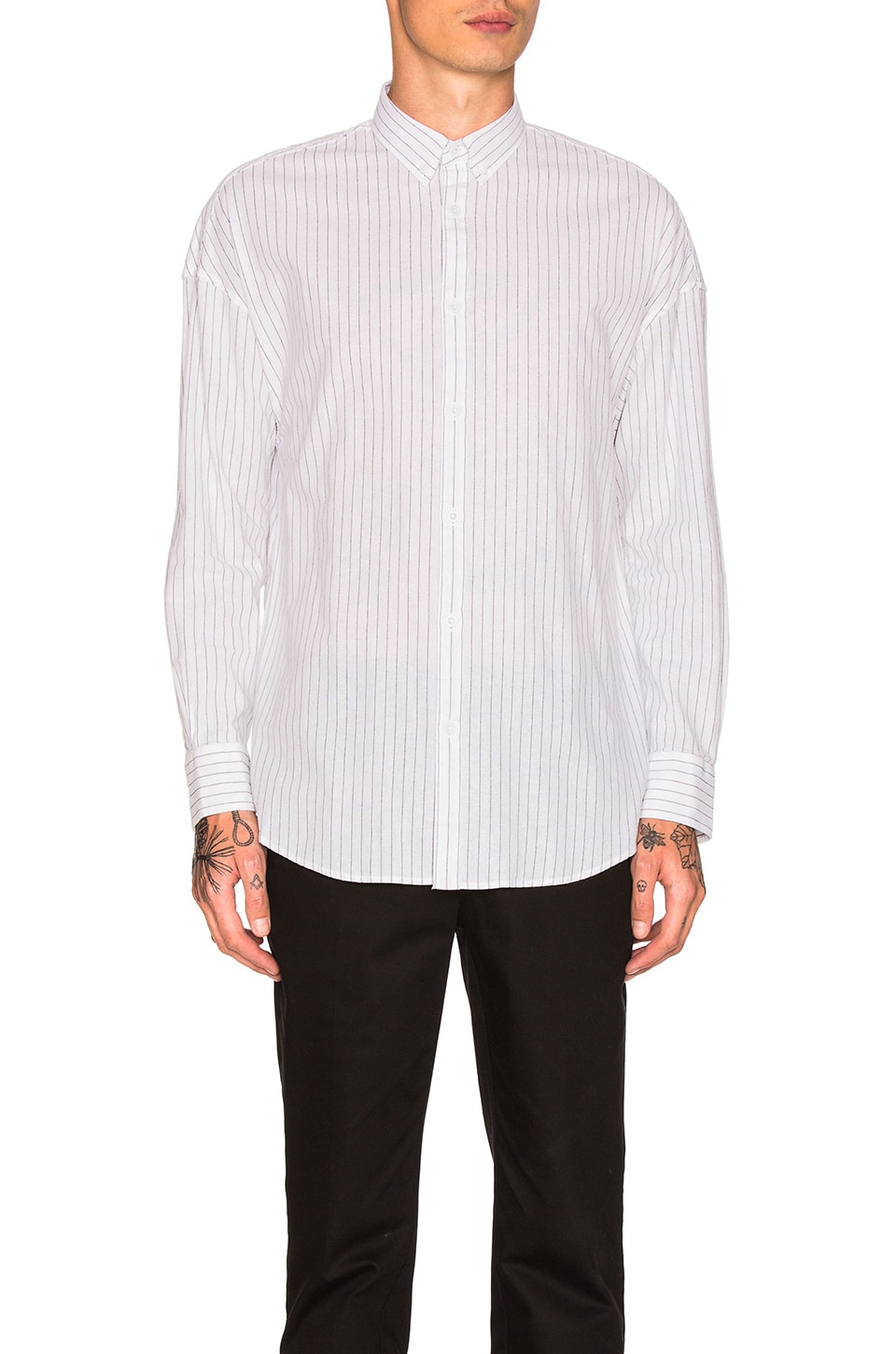 Pinstripe Rugger Shirt by Zanerobe