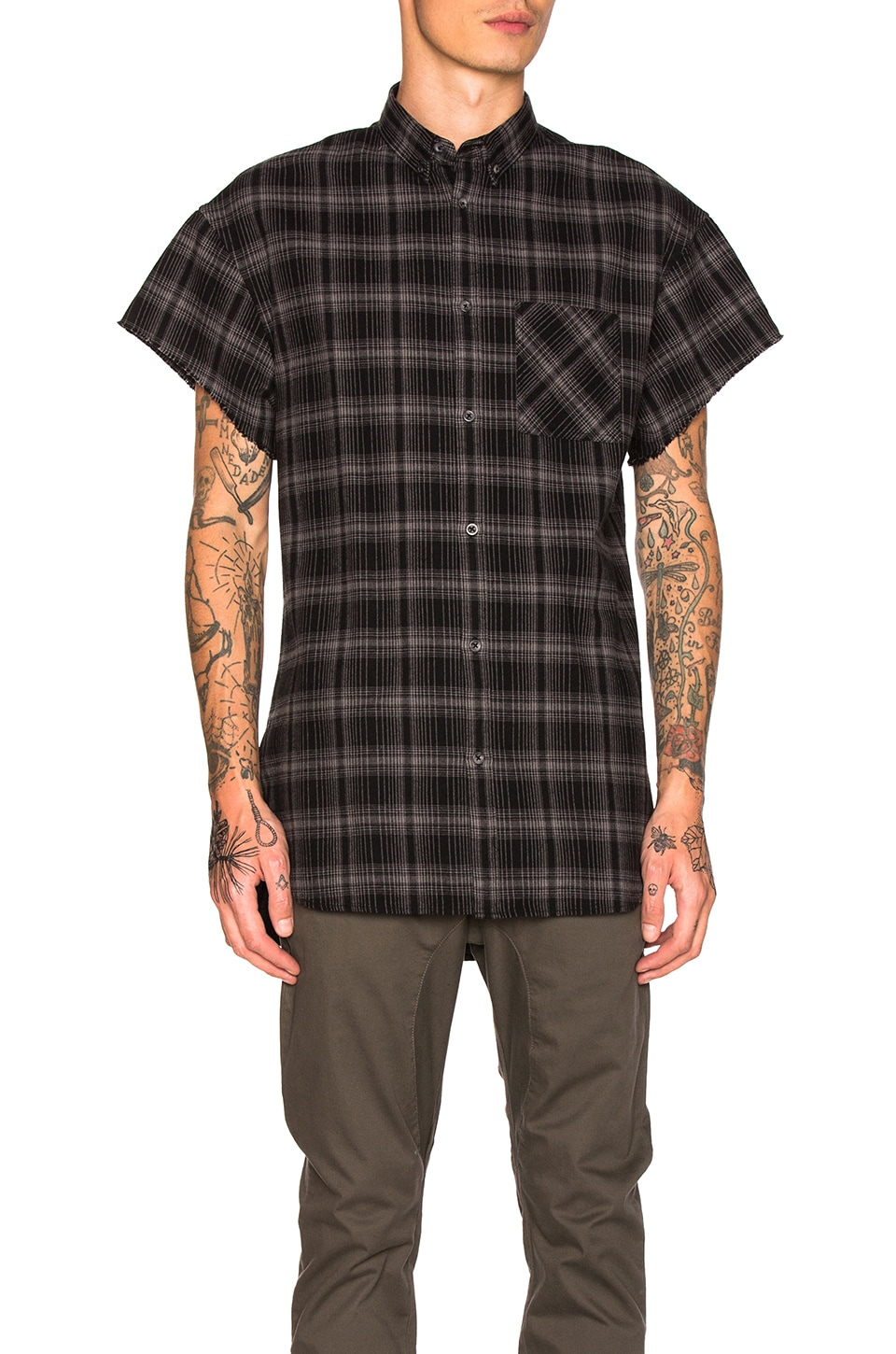 Rugger Cut Sleeve Shirt by Zanerobe