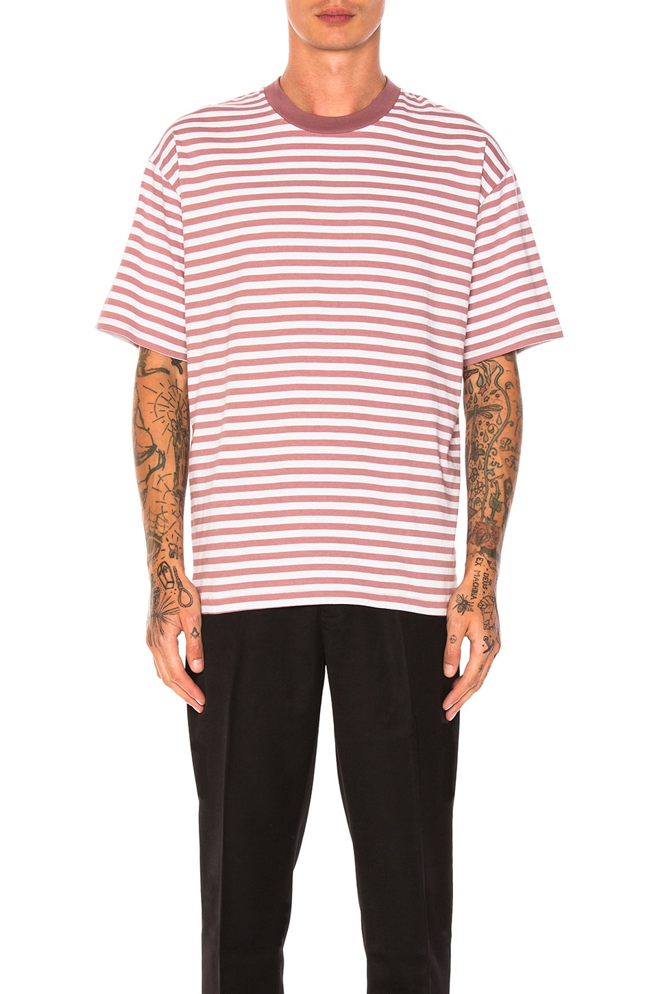 Stripe Box Tee by Zanerobe