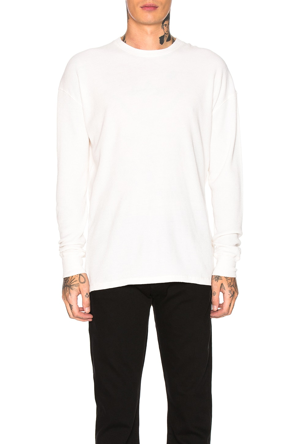 Zanerobe Waffle Rugger Long Sleeve Tee in Bone