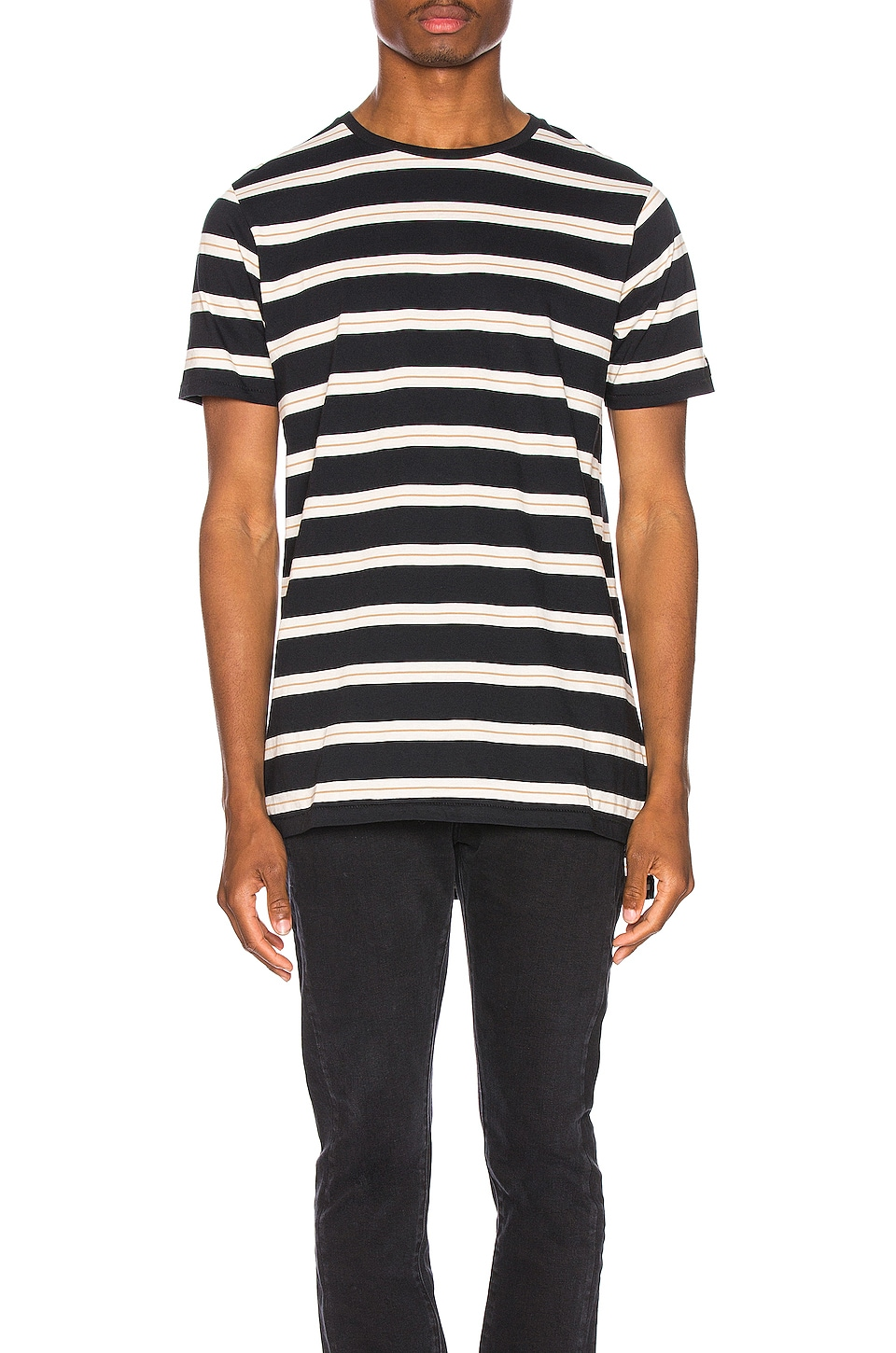 Zanerobe Stripe Flintlock Tee in Black & White