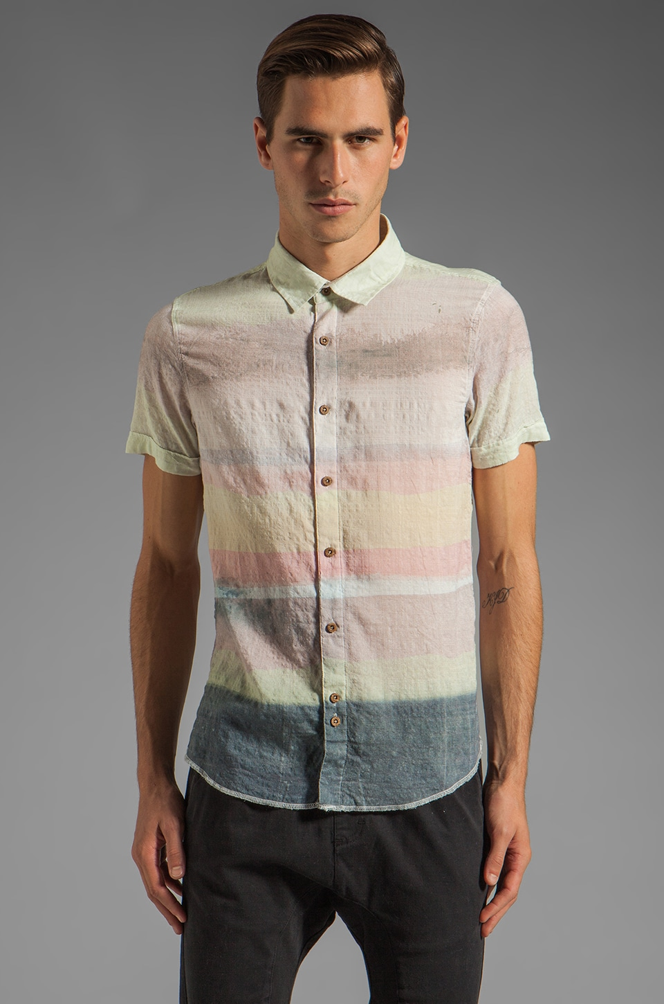 Zanerobe Dawn Short Sleeve Shirt in Natural