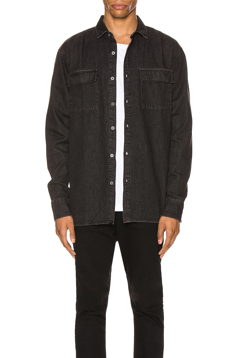 Zanerobe Denim Is Shirt in Archive Black