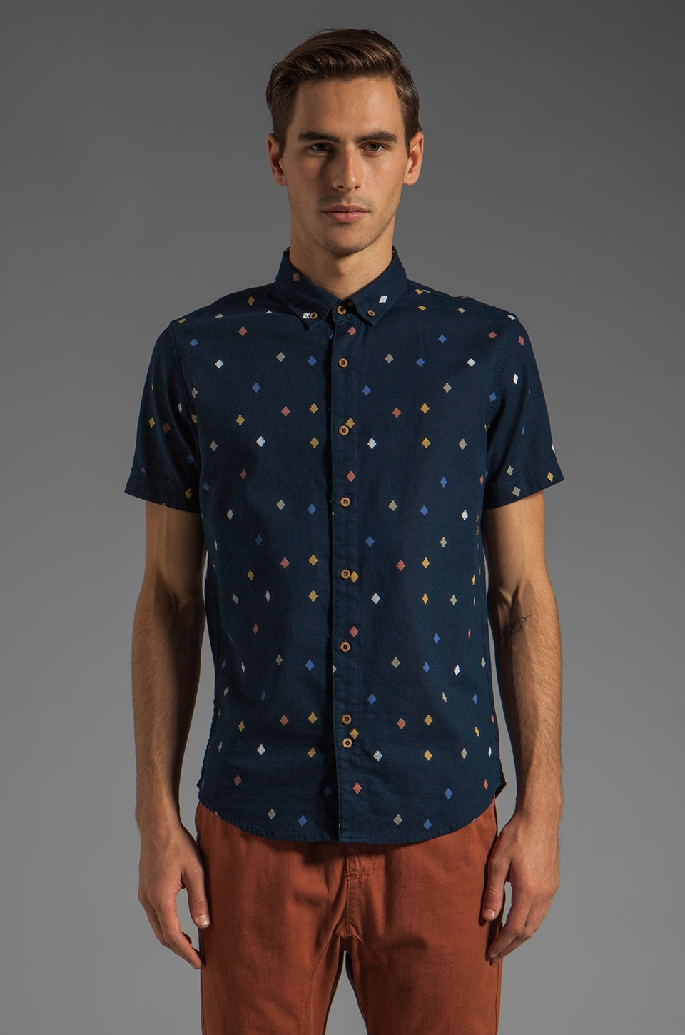 Zanerobe Malibu Short Sleeve Shirt in Navy