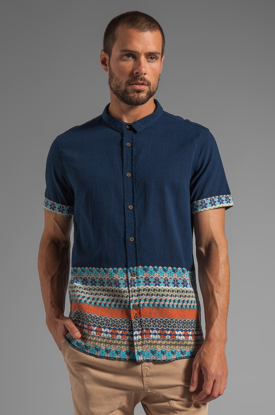 Zanerobe Heath S/S Shirt in Navy