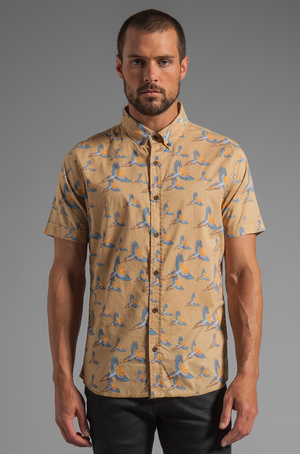Zanerobe Pirate S/S Shirt in Cashew