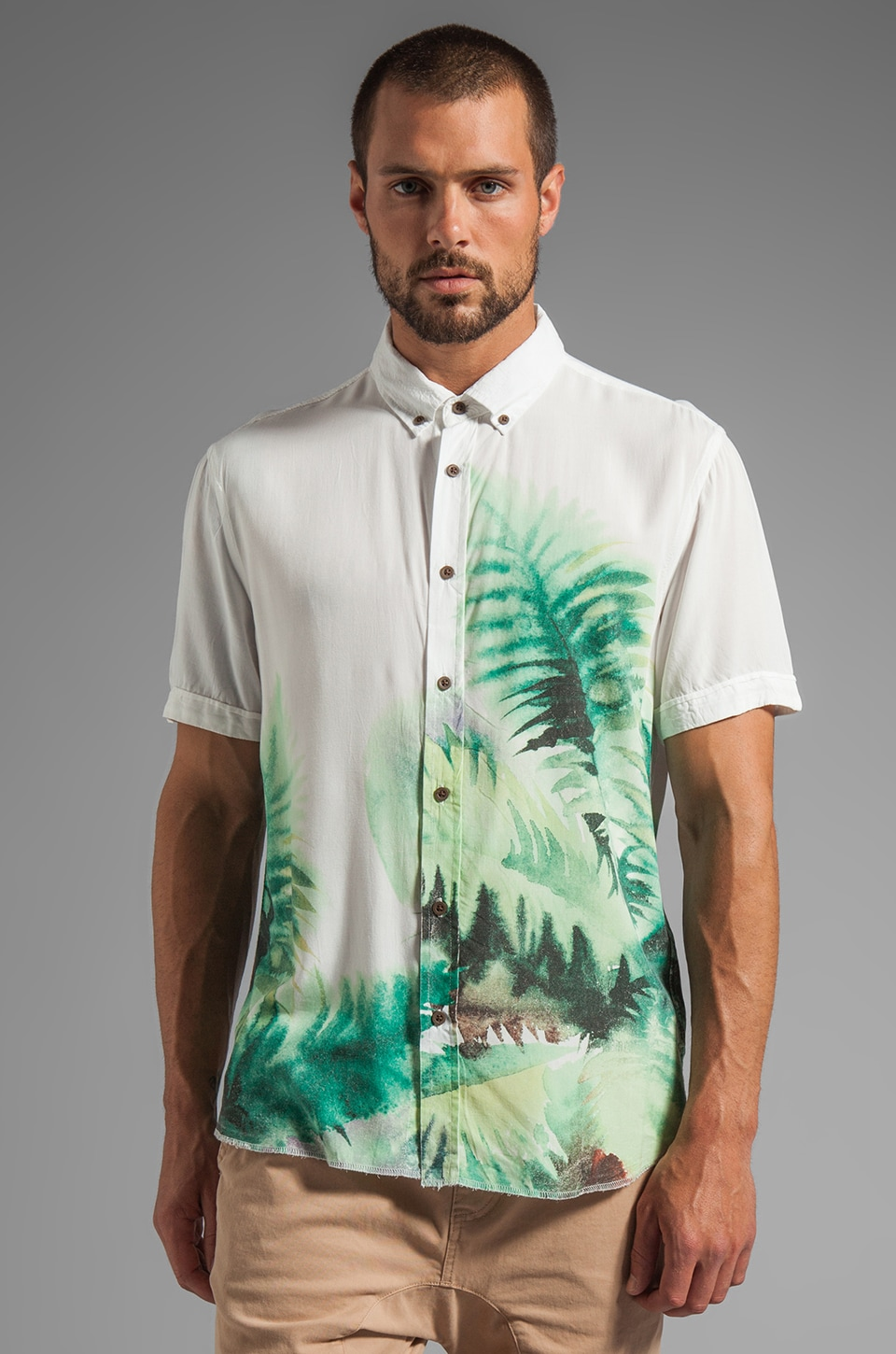 Zanerobe Vernon S/S Shirt in Fern