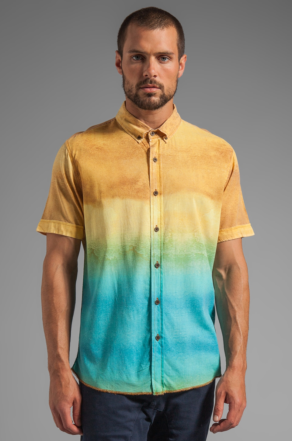 Zanerobe Botanic Short Sleeve Shirt in Lava