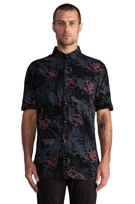 Zanerobe Aloha S/S in Black Floral