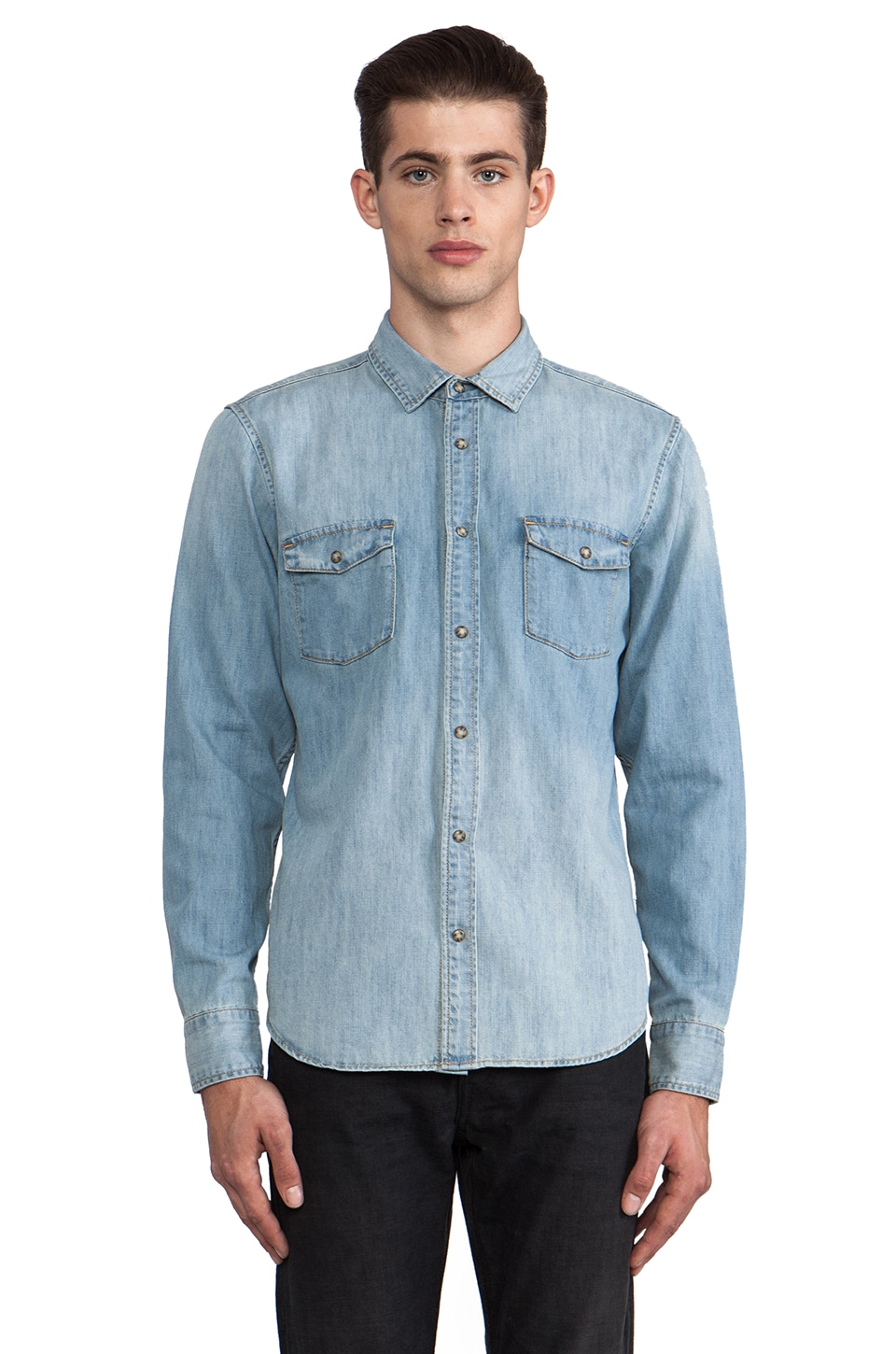 Zanerobe Reno Denim Shirt in Blonde