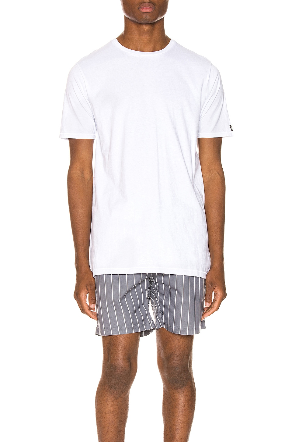 FLCH+YIGE Mens Summer Short Sleeve Top and Shorts Pajama Set