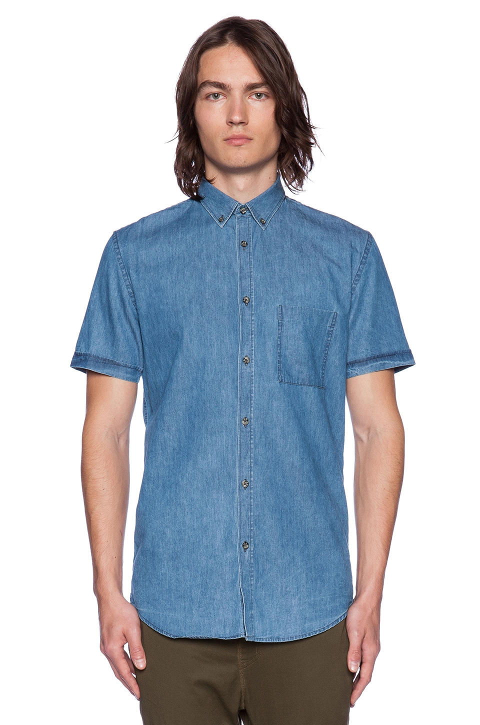 Zanerobe Seven Foot Shirt in Denim