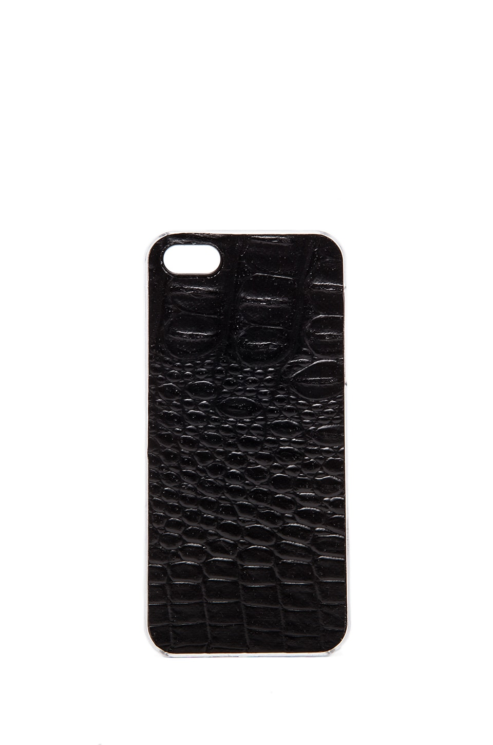 ZERO GRAVITY Faux Leather Reptilia iPhone 5 Case in Black