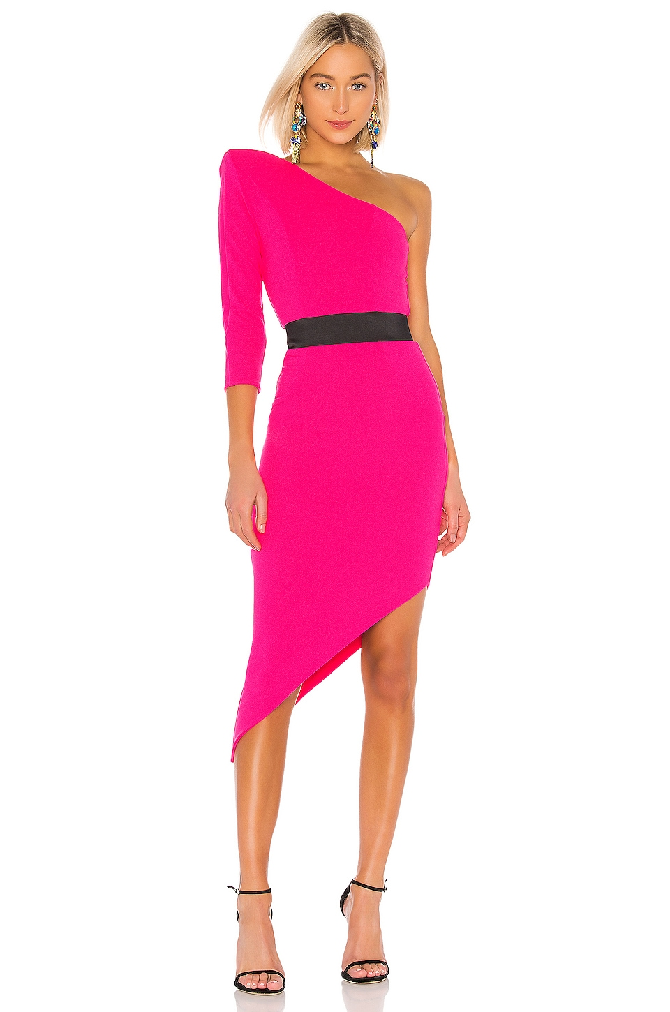 Zhivago Helix Dress in Electric Pink