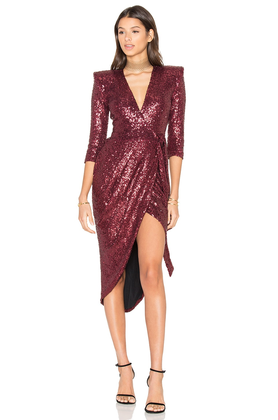 Zhivago x REVOLVE Kinsey Wrap Dress in Wine