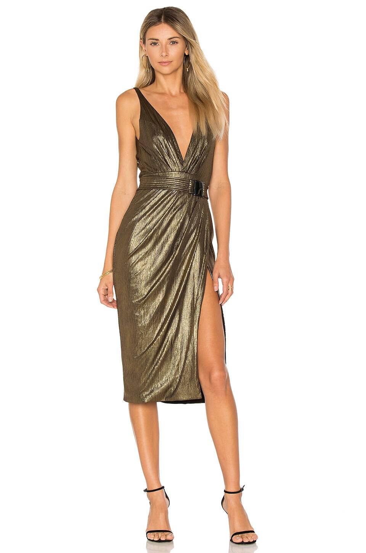 Zhivago After Dark Dress in Dark Gold & Black | REVOLVE