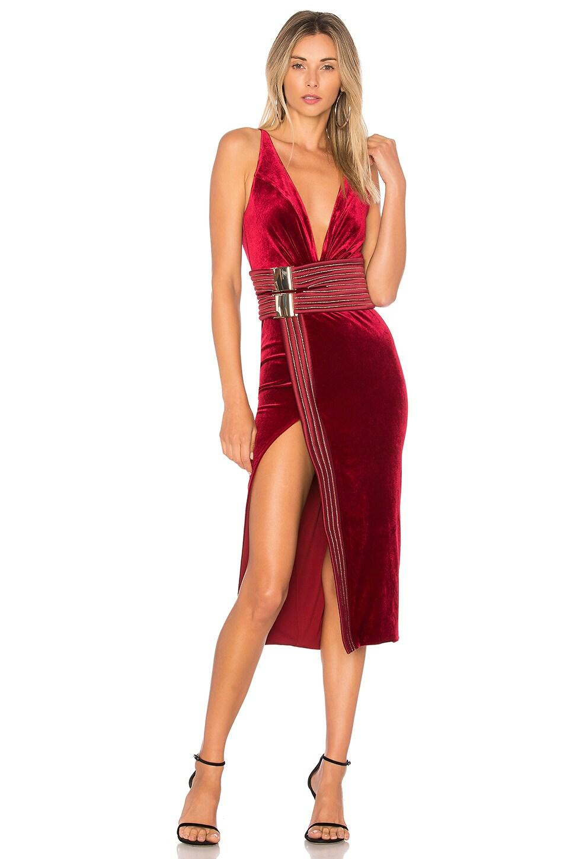 Zhivago Le Loft Velvet Dress in Ruby | REVOLVE