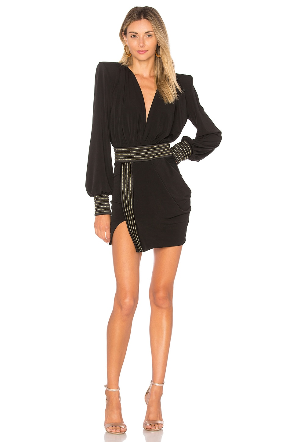 Zhivago Ready Mini Dress in Black