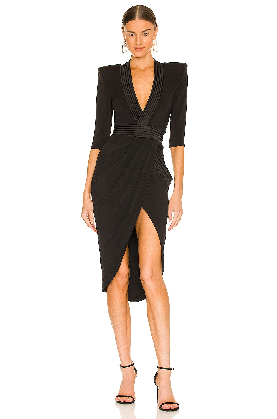 Zhivago Eye of Horus Midi Dress in Black