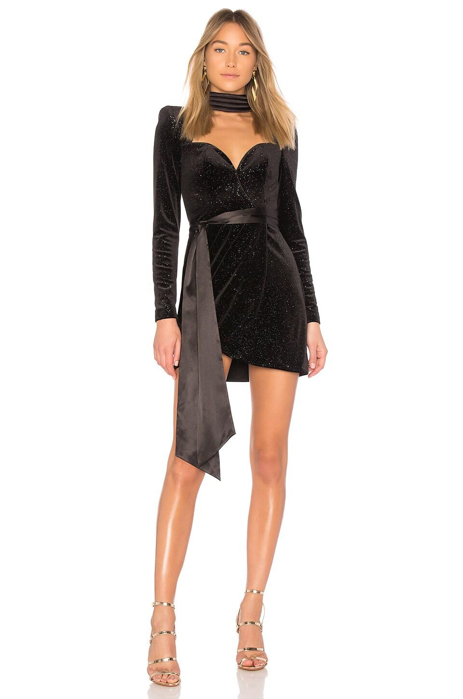 X REVOLVE Glitter Velvet Dress