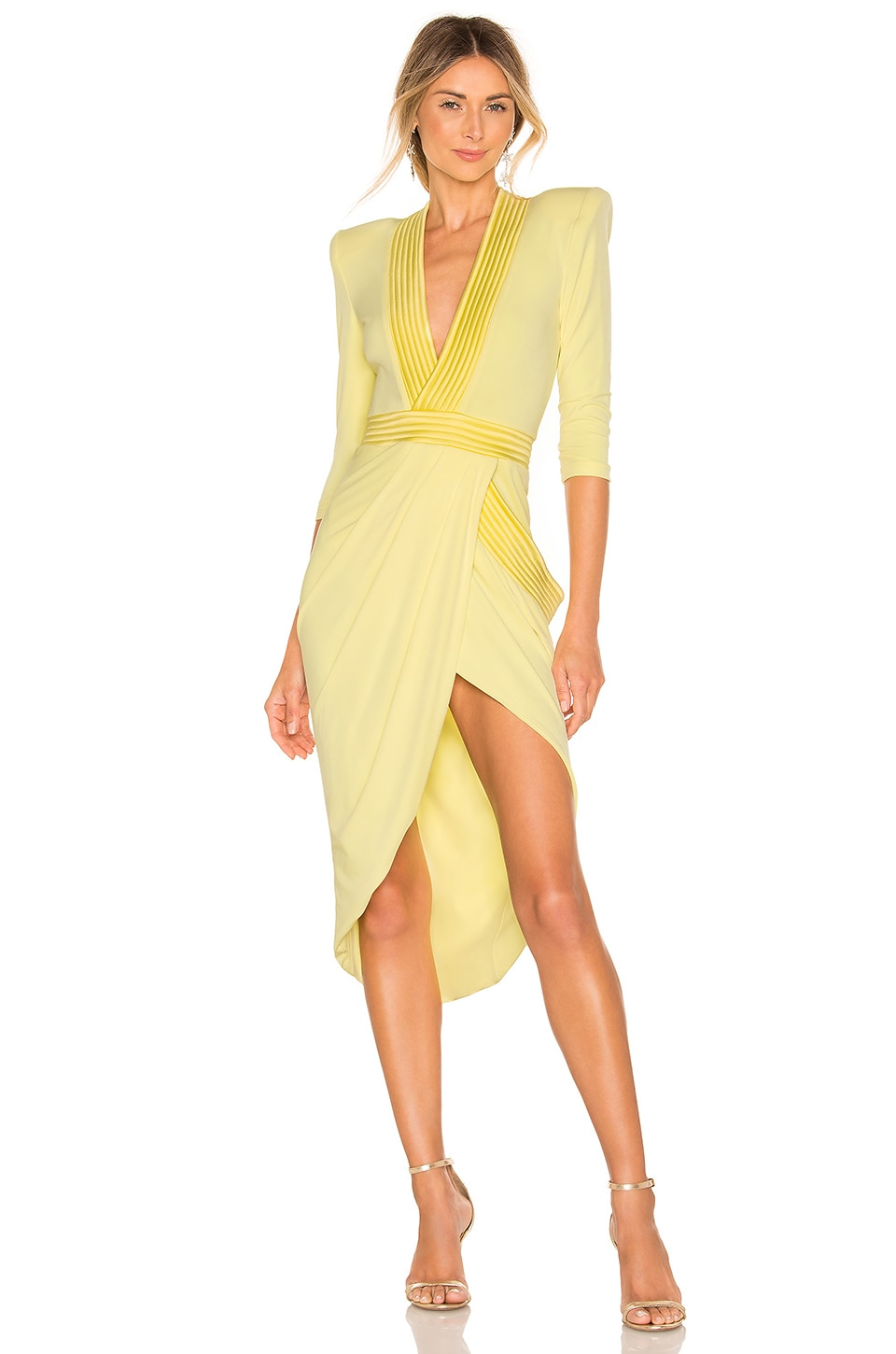 Zhivago Eye Of Horus Dress in Pastel Yellow