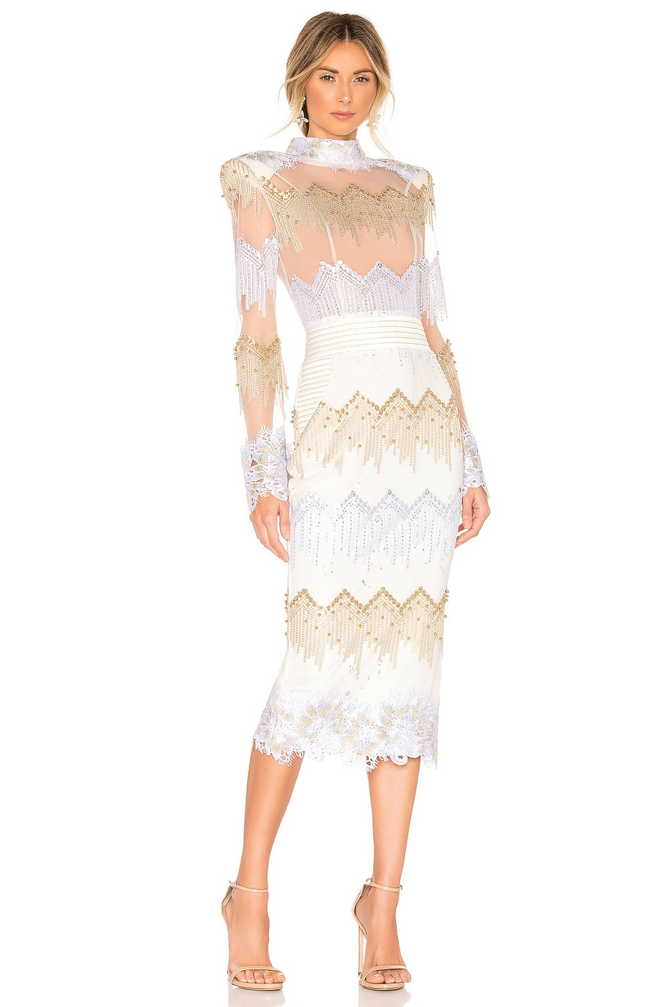 Zhivago Chrysler Midi Dress in Moet