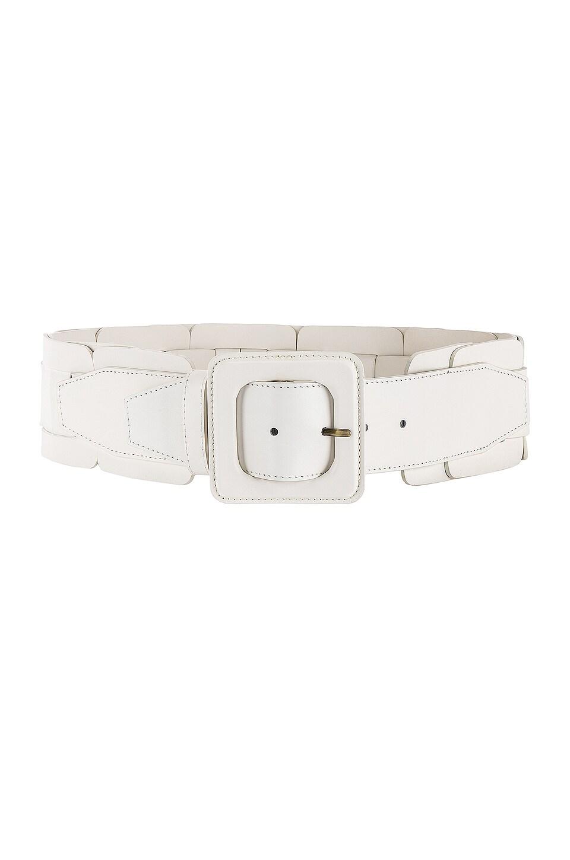 Zimmermann Square Link Wide Waist Belt in Cream