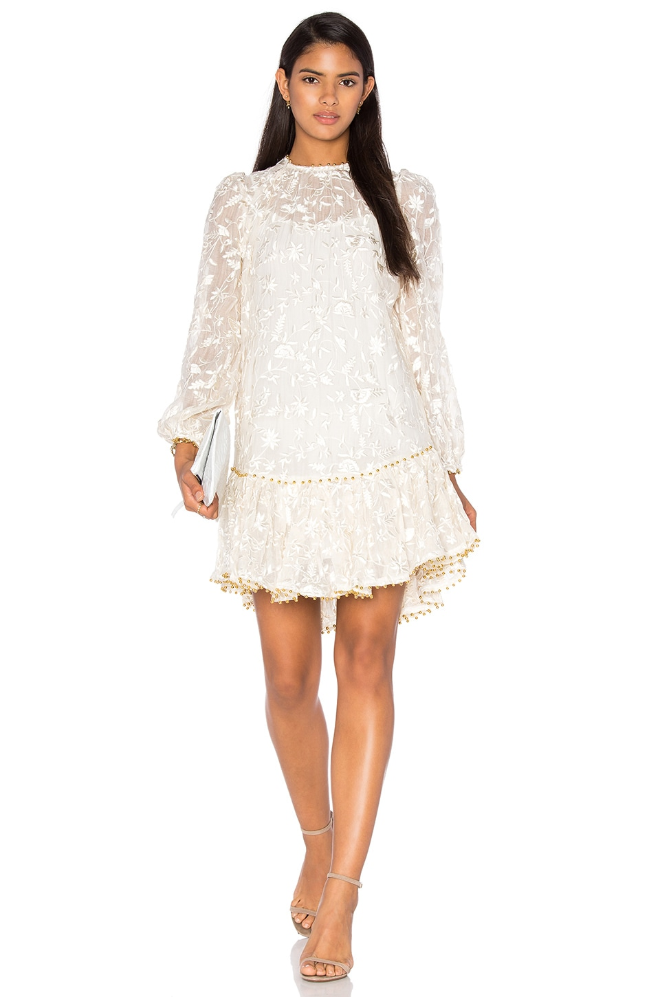 Zimmermann Master Embroidered Dress in Natural