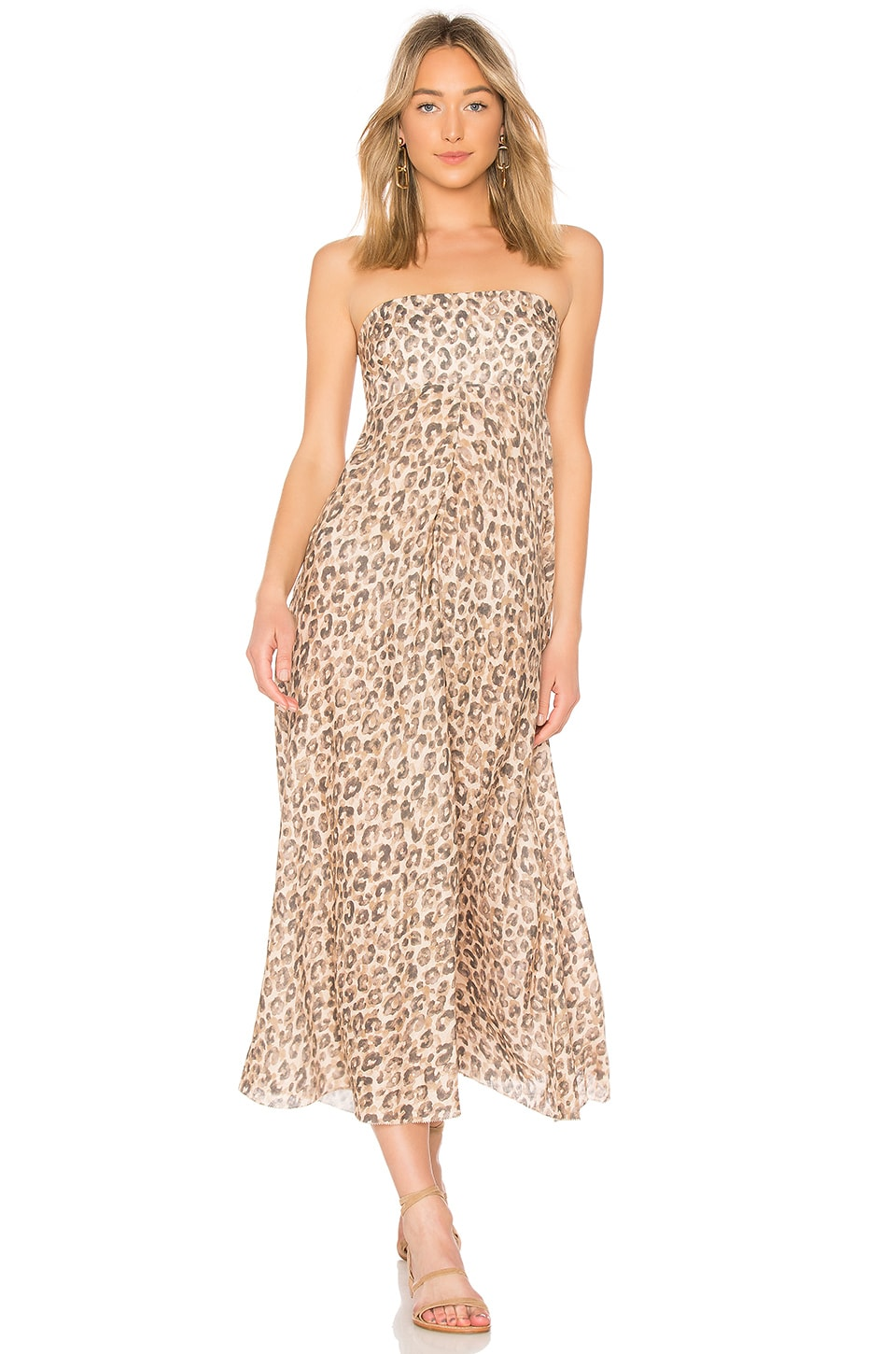 Zimmermann Melody Strapless Maxi Dress in