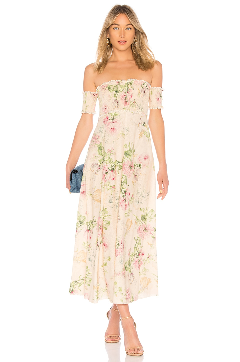 be42c4d74c3b4 Zimmermann Iris Shirred Bodice Maxi Dress in Cream Floral | REVOLVE