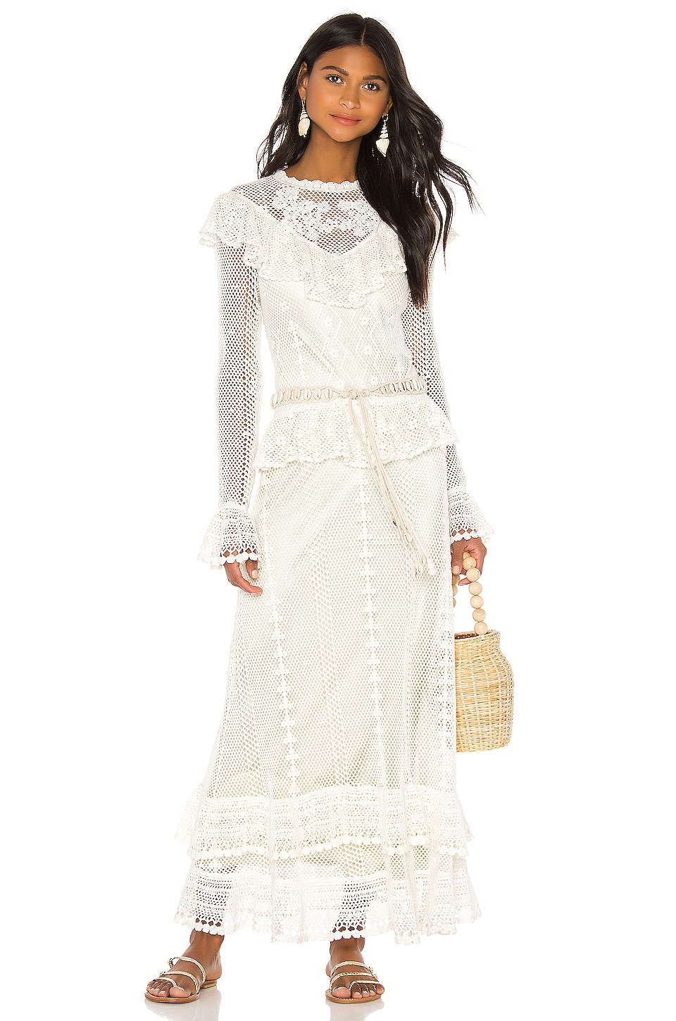 Zimmermann Allia Crochet Maxi Dress In