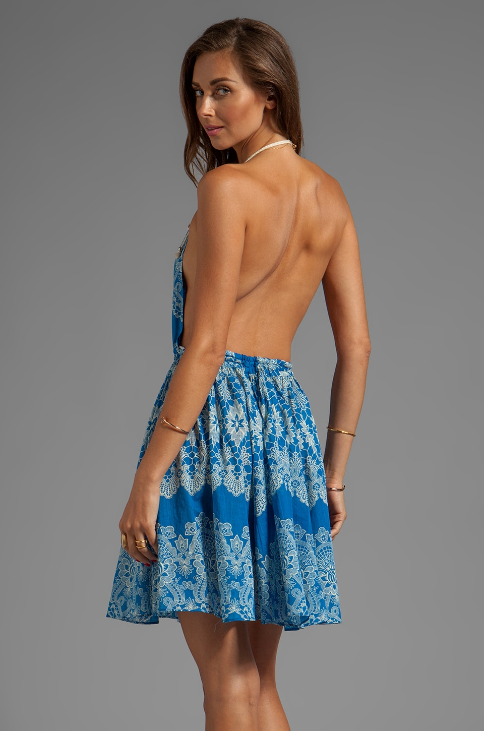 Zimmermann Drifter Backless Dress in Applique